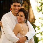 Nauheed Cyrusi with her husband