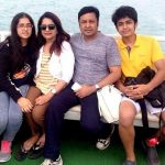 Nitin Vakharia with his wife and children