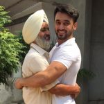 Paramveer Singh Cheema with father