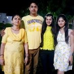 Priyanka Singh with her mother, brother, and sister