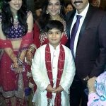 Ritu Vij with husband and children