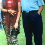 Sana Iqbal with her father