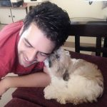 Sanjay Gagnani with his dog Flirty