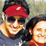 Saurabh Raj Jain with his mother