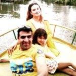 Shalini Kapoor Sagar with her husband Rohit Sagar and daughter Aadya Sagar