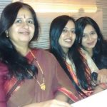 Sheetal Pandya with mother and sister