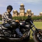 Shehzad Roy on his Bike