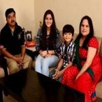 Shivansh Kotia with his family