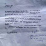 Wife of Barun Bhujel wrote a letter to West Bengal Inspector General (prisons) demanding probe and compensation