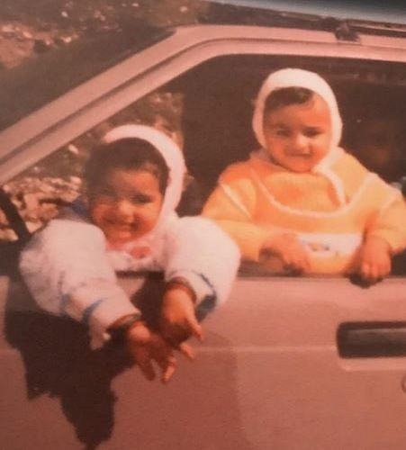 A Childhood Picture of Sukirti Kandpal (On the Left) and her Sister