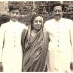 Ameen Sayani young age picture with his mother & brother