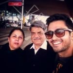 Amol Parashar with his parents