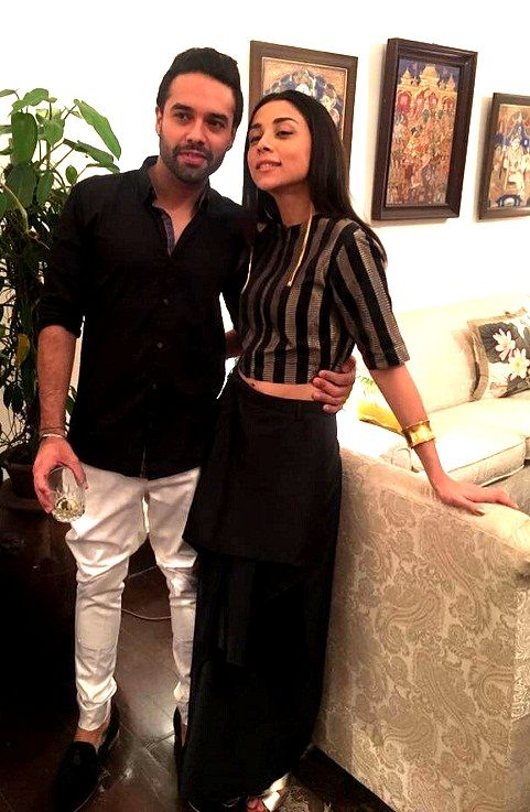 Amrita Puri with her husband Imrun Sethi
