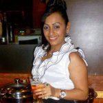 Ashita-Dhawan drinking