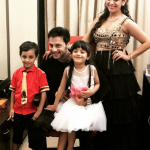 Ashita Dhawan with husband and children