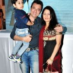 Avinash Wadhawan with his wife Natasha and son Samraat Wadhawan