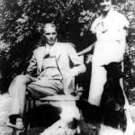 Dina Wadia with her father Mohammad Ali Jinnah and their pet dogs
