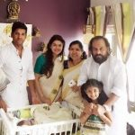 Vijay Yesudas With his son and daughter
