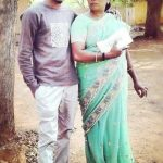 Gautam Manokaran with his mother
