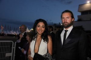 Golshifteh with his husband Christos