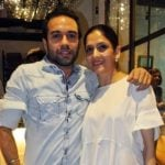 Imrun Sethi with his mother