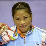 Mary Kom in Asian Woman's Boxing Championship in 2008