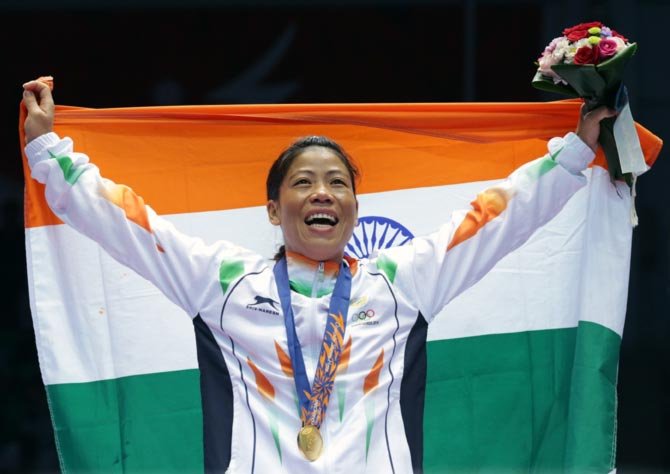 Mary Kom in the Olympics