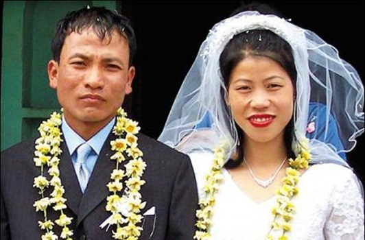 Mary Kom's marriage photo
