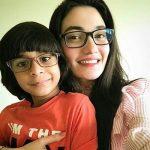 Muniba Mazari with her son