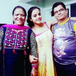 Nisha Pareek with her parents