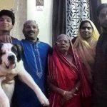 Piyush Chauhan with his family