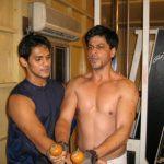 Prashant Sawant with Shahrukh Khan