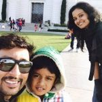 RJ Balaji with his wife and son