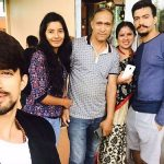 Rohit Singh with his family