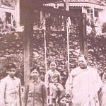 Sarat Chandra Bose With his Wife and children at their Giddepahar Bungalow