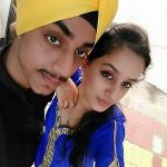 Sargun Kaur with her brother