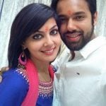 Zara Barring with husband Saurabh Pandey