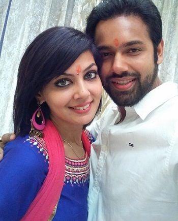 Saurabh Pandey with wife Zara Barring