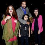 Shahbaz Khan with his wife and daughters