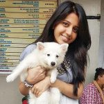 Simran Pareenja a pet lover