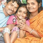 Sonali Majumdar with her parents