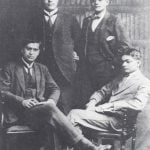 Subhas Chandra Bose (Standing Right) with his Friends in England