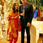 Suhaas Ahuja with his wife Shruti Gupte