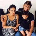 Suranga Lakmal With His Wife And Son