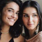 Tara Sutaria with her twin sister Pia Sutaria