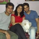 Tushar Chawla with Mother and Brother