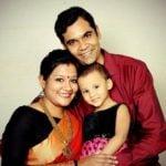 Akansha Verma with husband and daughter