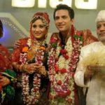 Ali Merchant with his ex-wife sara Khan