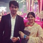 Ankur Verma with mother