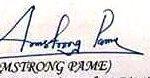 Armstrong Pame Signature